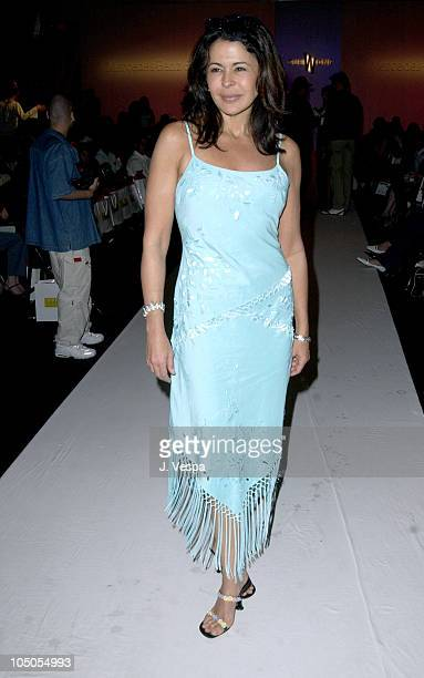 Maria Conchita Alonso during MercedesBenz Shows LA Sue Wong Front Row and Backstage at The Standard Downtown LA in Los Angeles California United...