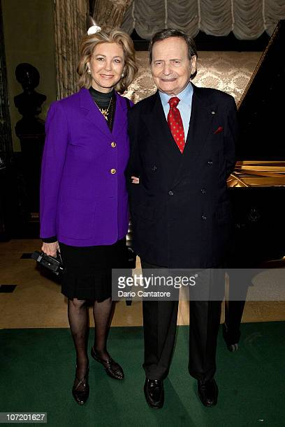 """Maria Cooper and Byron Janis attend """"Chopin and Beyond"""" at Steinway Hall on November 29, 2010 in New York City."""