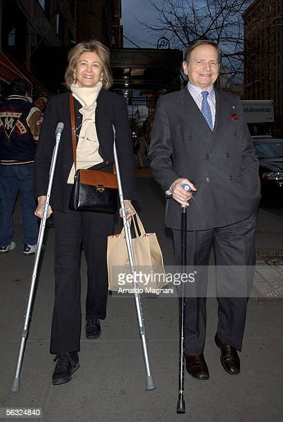 Maria Cooper daughter of Gary Cooper is seen with her husband musician Byron Janis leaving the Regency Hotel December 2 2005 in New York City