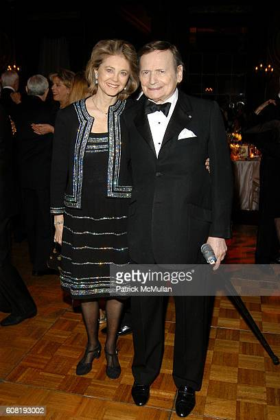 Maria Cooper Janis and Byron Janis attend STEVEN ANGELA KUMBLE'S Wedding Celebration at Metropolitan Club on April 13 2007 in New York City