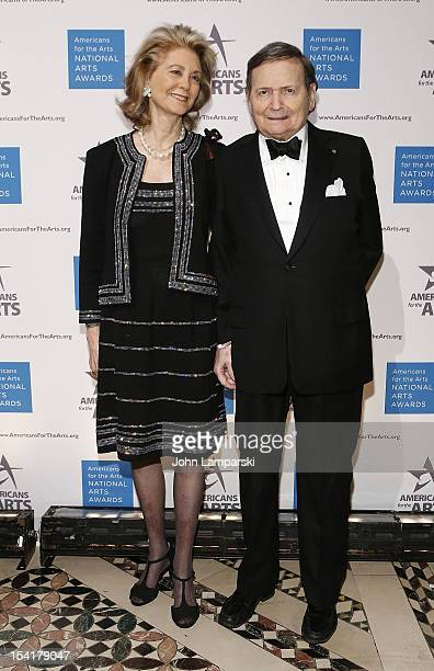 Maria Cooper Janis and Byron janis attend the 2012 National Arts Awards at Cipriani 42nd Street on October 15, 2012 in New York City.