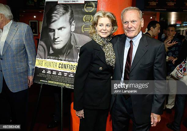 Maria Cooper Janis and Tab Hunter attend Tab Hunter Confidential special screening at Film Forum on October 12 2015 in New York City