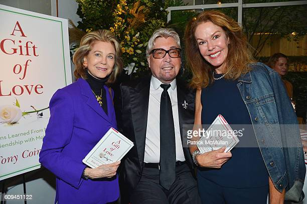 Maria Cooper Janis Tony Cointreau and Cece Cord attend the Cocktail Reception at Michael's for Tony Cointreau's New Book A Gift of Love at Michael's...