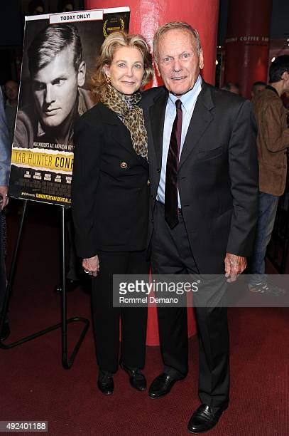 Maria CooperJanis and Tab Hunter attend Tab Hunter Confidential special screening at Film Forum on October 12 2015 in New York City