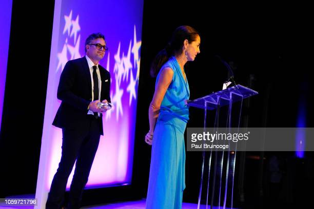 Maria Cornejo and Mark Ruffalo attend Fashion Group International Night Of Stars 2018 at Cipriani Wall Street on October 25 2018 in New York City