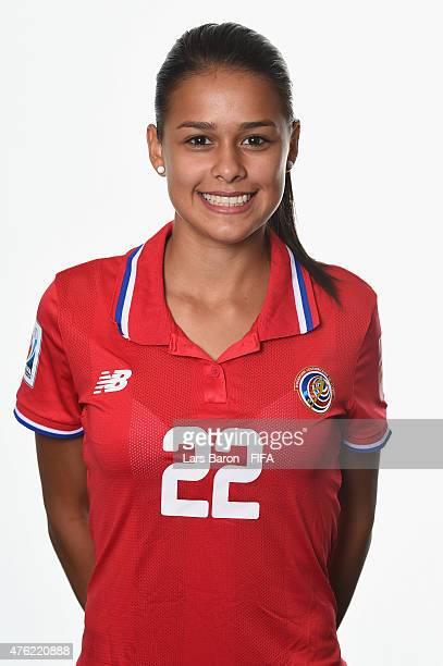 Maria Coto of Costa Rica poses during the FIFA Women's World Cup 2015 portrait session at Sheraton Le Centre on June 6 2015 in Montreal Canada