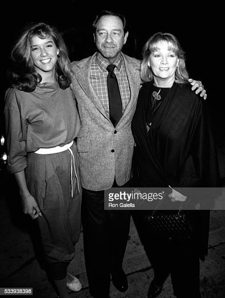 Maria Crenna Richard Crenna and Penni Sweeney attend Jane Wooster Scott Art Exhibit Opening on April 1 1982 at the De Ville Galleries in Beverly...
