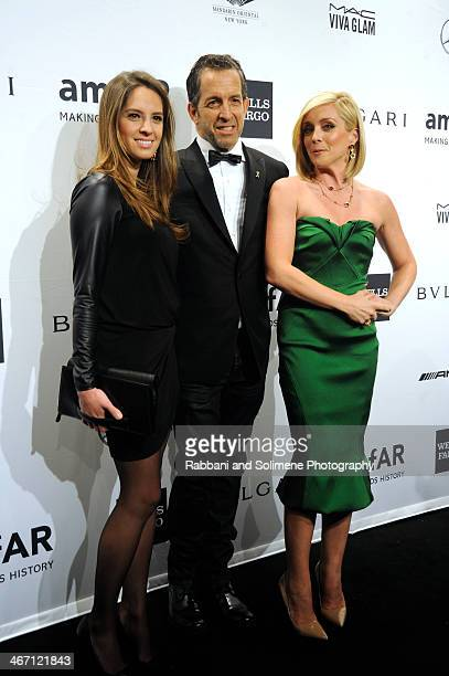 Maria Cuomo Kenneth Cole and Jane Krakowski attend the 2014 amfAR New York Gala at Cipriani Wall Street on February 5 2014 in New York City