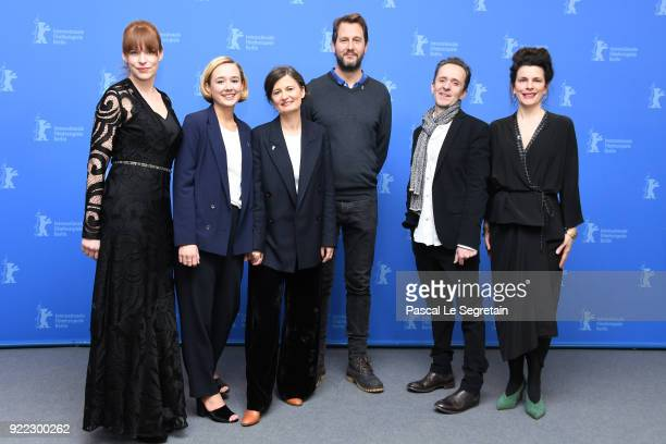 Maria Dahlin Alba August Pernille Fischer Christensen Henrik Rafaelsen Kim Fupz Aakeson and Anna Anthony poses at the 'Becoming Astrid' photo call...