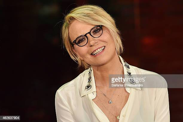 Maria De Filippi attends ''Che Tempo Che Fa' TV Show on February 1 2015 in Milan Italy