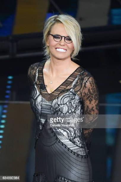 Maria De Filippi attends the fourth night of the 67th Sanremo Festival 2017 at Teatro Ariston on February 10 2017 in Sanremo Italy