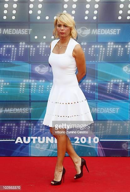 Maria De Filippi attends the Mediaset Night TV Programming Presentation on June 30, 2010 in Milan, Italy.