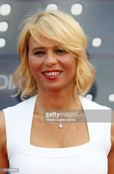 Maria De Filippi attends the Mediaset Night TV Programming Presentation on June 30 2010 in Milan Italy