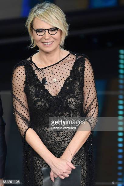 Maria De Filippi attends the second night of the 67th Sanremo Festival 2017 at Teatro Ariston on February 8 2017 in Sanremo Italy