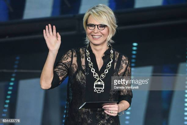 Maria De Filippi attends the third night of the 67th Sanremo Festival 2017 at Teatro Ariston on February 9 2017 in Sanremo Italy