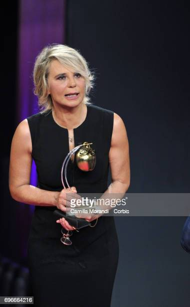 Maria De Filippi recieves the Bellisario Awards In Rome on June 16 2017 in Rome Italy