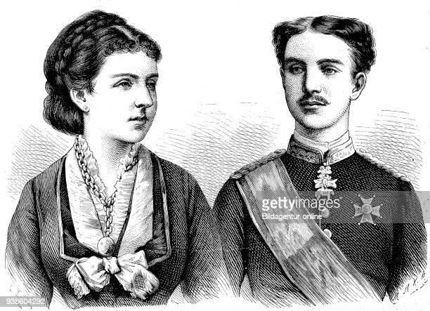Maria de las Mercedes dÕ Orleans y Borbon, 1860 - 1878 and Alfonso XII. 1857 - 1885, Alfonso Francisco de As's Fernando P'o Juan Mar'a de la...