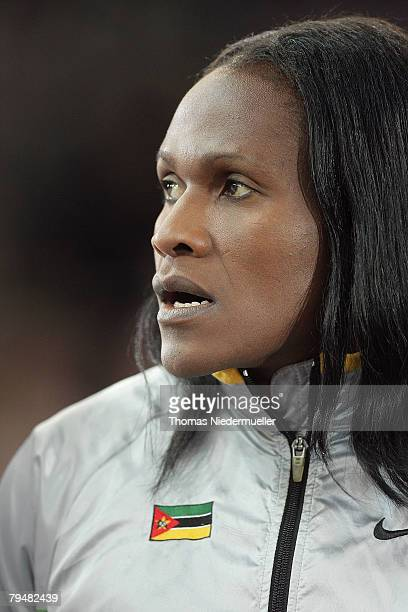 Maria de Lurdes Mutola of Mozambique is seen in front of the 1500m run during the Sparkassen Cup 2008 at the Hanns-Martin Schleyer Hall on February...