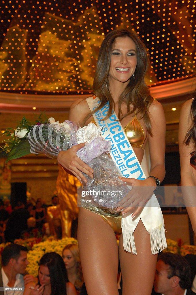Maria de Luz Da Silva of Venezuela competes in the third annual TropicBeauty World Finals at the MGM Grand Hotel/Casino on March 2, 2013 in Las Vegas, Nevada.