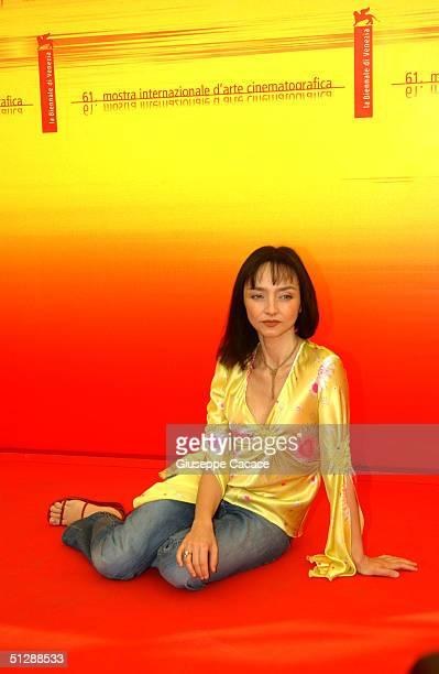 "Maria de Medeiros attends the ""Il Resto Di Niente"" Photocall at the 61st Venice Film Festival on September 11, 2004 in Venice, Italy."