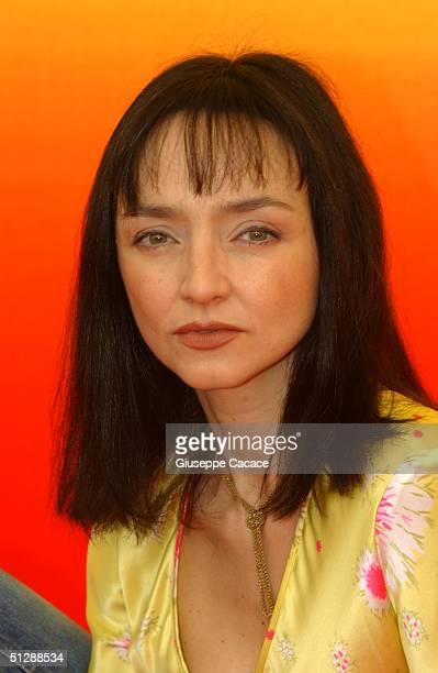 "Maria de Medeiros attends the ""Il Resto Di Niente"" Premiere/Photocall at the 61st Venice Film Festival on September 11, 2004 in Venice, Italy."