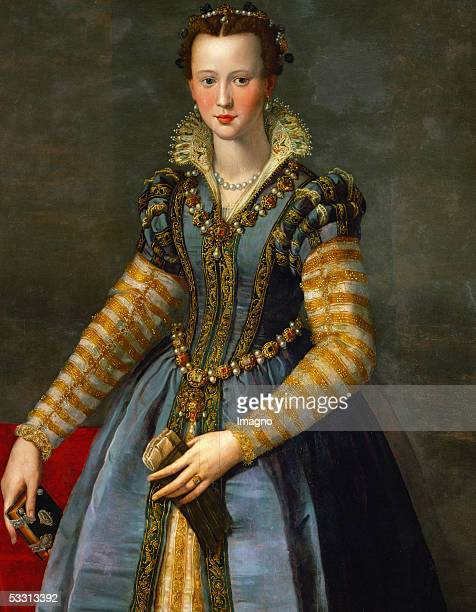 Maria de Medici Oil on poplarwood Around 1560 [Maria de Medici Oel auf Pappelholz Um 1560]