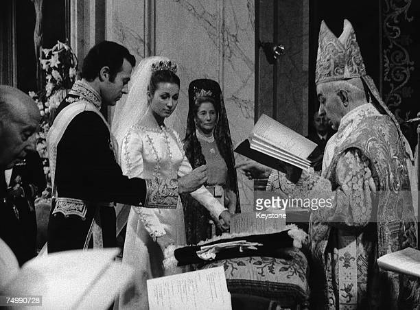 Maria del Carmen MartinezBordiu y Franco granddaughter of General Franco marries Don Alfonso Duke of Anjou and Cadiz grandson of King Alfonso XIII of...
