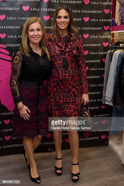 Maria del Mar Gasso Casademunt and Irene Rosales attend the Lola Casademunt boutique opening on October 20 2017 in Malaga Spain