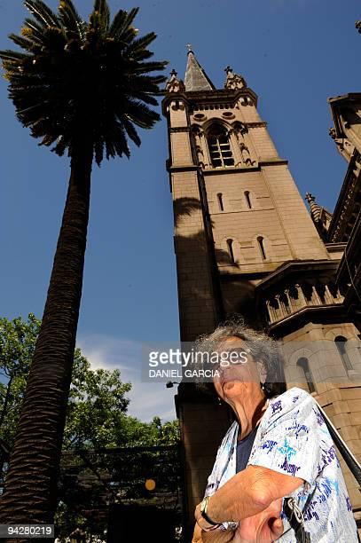 Maria del Rosario de Cerruti poses in front of the Santa cruz church on November 16 2009 Twelve people known as the group of Santa Cruz church...