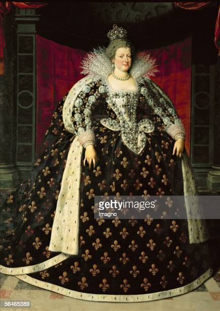Maria de'Medici Queen of France wife of King Henri IV Canvas from Frans Pourbus INV 1710 LouvreDptdes Peintures Paris France [Maria deMedici Koenigin...