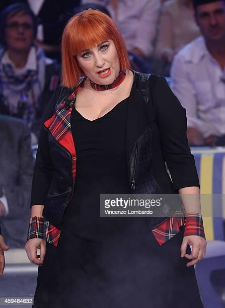 Maria Di Biase attends the 'Quelli Che Il Calcio' Tv Show on November 23 2014 in Milan Italy