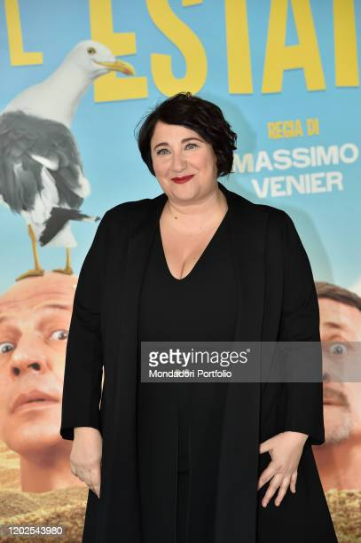 Maria Di Biase during the photocall of the film Odio l'estate at the Cinema Adriano Rome January 27th 2020