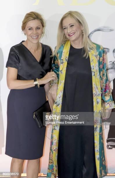 Maria Dolores de Cospedal and Cristina Cifuentes attend a dinner in honour of 'Mariano de Cavia' 'Mingote' and 'Luca de Tena' awards winners on...