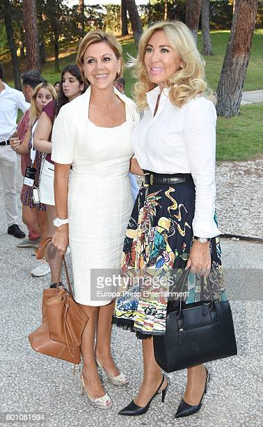 Maria Dolores de Cospedal and Norma Duval attend the Felix Ramiro fashion show during MFSHOW MEN at Costume Museum on September 8 2016 in Madrid Spain