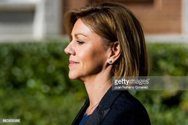 Maria Dolores de Cospedal attends a meeting for the commemoration of the First Expedition of Fernando de Magallanes and Juan Sebastian Elcano at the...