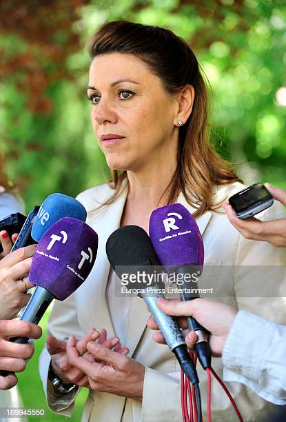 Maria Dolores de Cospedal attends Drug Foundation Signing at FAD Headquarters on June 4 2013 in Madrid Spain