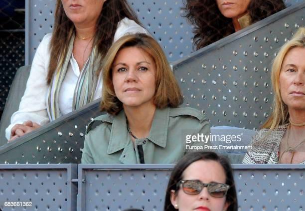 Maria Dolores de Cospedal attends Mutua Madrid Open tennis at La Caja Magica on May 13 2017 in Madrid Spain