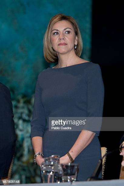 Maria Dolores de Cospedal attends the awards of the 'Real Fundacion de Toledo' at the 'El Greco' auditorium on March 27 2015 in Toledo Spain