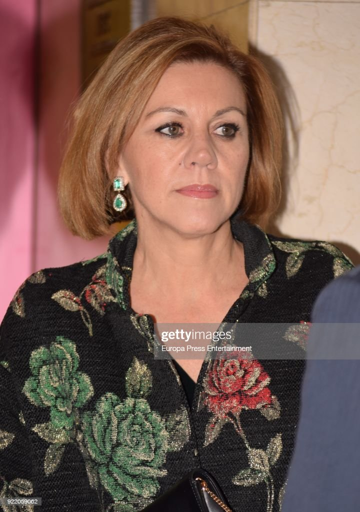 Maria Dolores de Cospedal attends the 'Premio Taurino ABC' awards at the ABC Library on February 20, 2018 in Madrid, Spain.