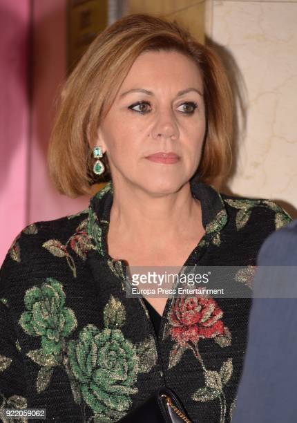 Maria Dolores de Cospedal attends the 'Premio Taurino ABC' awards at the ABC Library on February 20 2018 in Madrid Spain