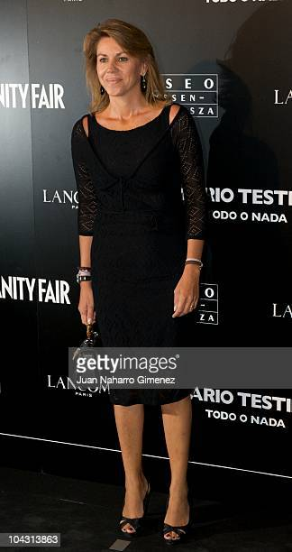 Maria Dolores de Cospedal attends 'Todo o Nada' exhibition of Mario Testino and Vanity Fair at ThyssenBornemisza Museum on September 20 2010 in...