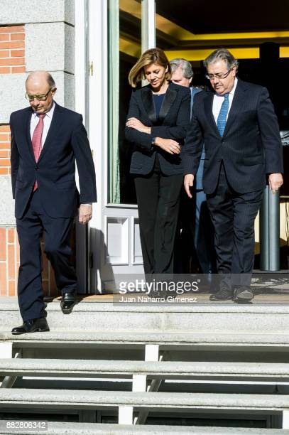 Maria Dolores de Cospedal Cristobal Montoro and Juan Ignacio Zoido attend a meeting for the commemoration of the First Expedition of Fernando de...