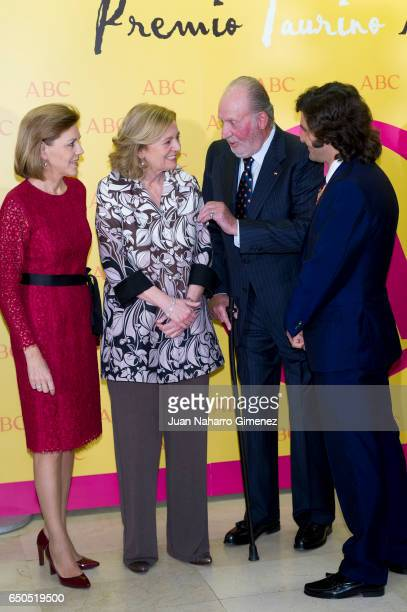 Maria Dolores de Cospedal King Juan Carlos and Jose Antonio Morante Camacho attend IX ABC Bullfighting Award at Casa de ABC on March 9 2017 in Madrid...