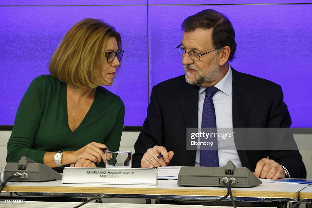 Spain's Prime Minister Mariano Rajoy At People's Party Event Following Election Victory