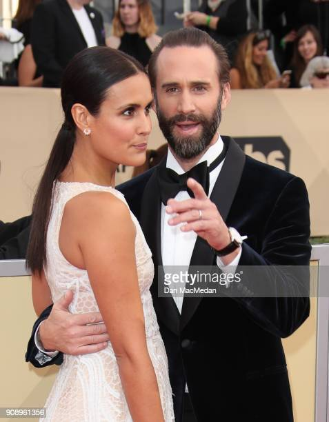 Maria Dolores Dieguez and Joseph Fiennes arrive at the 24th Annual Screen Actors Guild Awards at The Shrine Auditorium on January 21 2018 in Los...