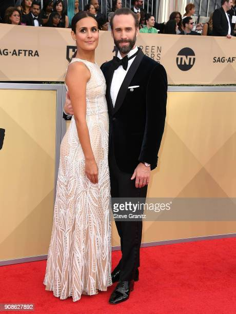 Maria Dolores Dieguez Joseph Fiennes arrives at the 24th Annual Screen ActorsGuild Awards at The Shrine Auditorium on January 21 2018 in Los Angeles...
