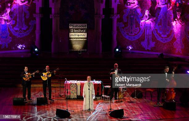 Maria Dolores Pradera performs on stage at the Palau de Musica on December 30 2011 in Barcelona Spain