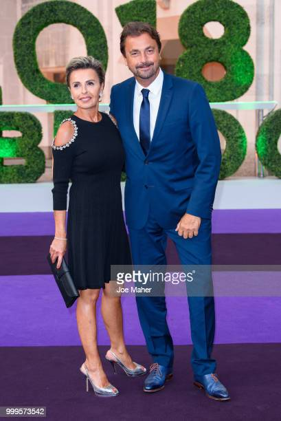 Maria Dowlatshahi and Henri Leconte attend the Wimbledon Champions Dinner at The Guildhall on July 15 2018 in London England