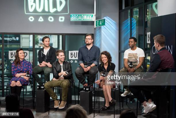 Maria Doyle Kennedy Ari Millen Jordan Gavris Kristian Bruun Tatiana Maslany and Kevin Hanchard visit Build Studios to discuss 'Orphan Black' at Build...
