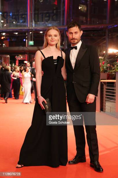 Maria Dragus and Clemens Schick attend the The Kindness Of Strangers premiere during the 69th Berlinale International Film Festival Berlin at...